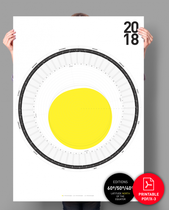 The-Circular-Calendar-2018-sun-60-50-40-degrees-north-of-the-equator