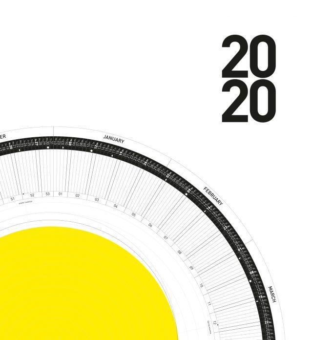 The Circular Calendar 2020 – 10º/20º/30º – south – Printable PDF 2