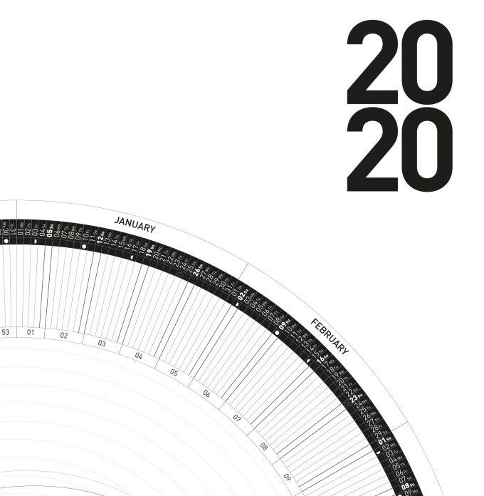 The Circular Calendar 2020 – 60º/50º/40º/30º – north – Printable PDF 3