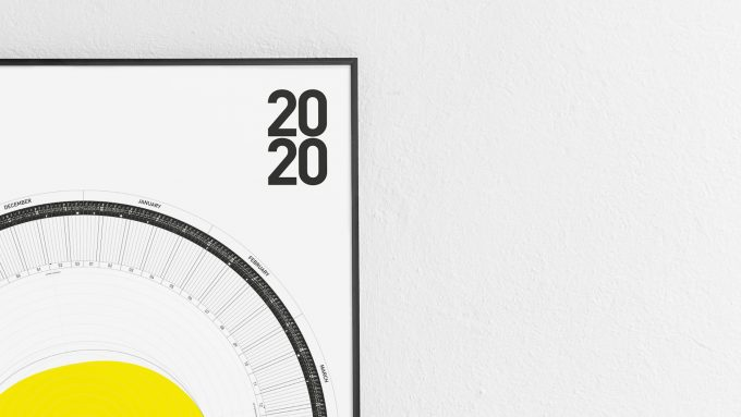 2020 Circular Calendar PRINT-VERSION- sun - 60º-50º-40º-north of the equator 2