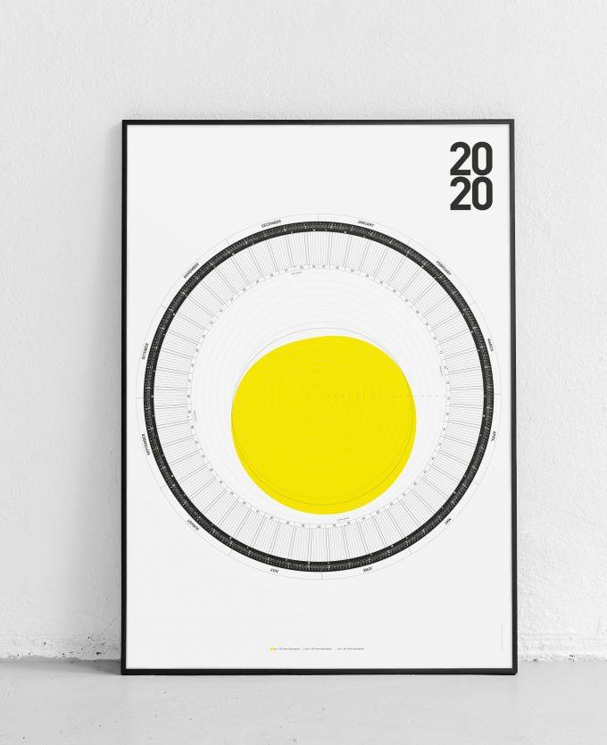 2020 wall calendar print 50N