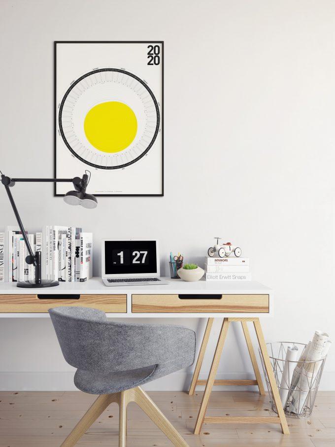 2020 Circular Calendar PRINT-VERSION- sun - 60º-50º-40º-north of the equator 1