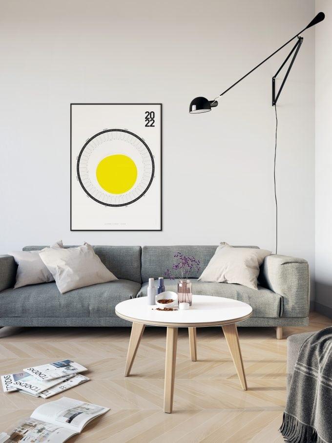 Round Wall Calendar 2022